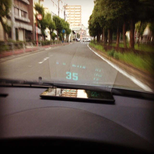nexus7で車載HUDを実現するAndroidアプリ「Navier HUD」