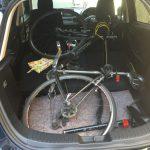 DJデミオに自転車クロスバイクのESCAPE R3は積めるのか?試してみた